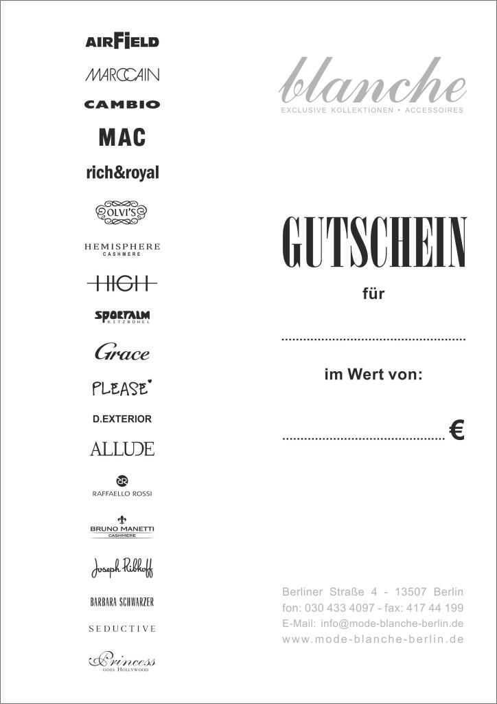 Gutschein blanche 20181